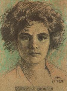Portret van Caroline Lea de Haan (1881-1932)