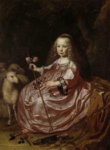 Portret van Clara Alewijn (1635-1674)