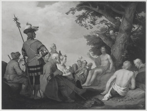 De prediking van Johannes de Doper in de wildernis