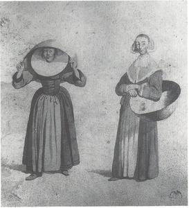 Twee vrouwen in Münsters costuum