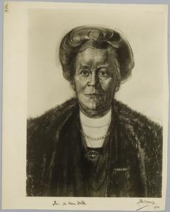 Portret van Jkvr. M.A.D. van Reenen- Völter