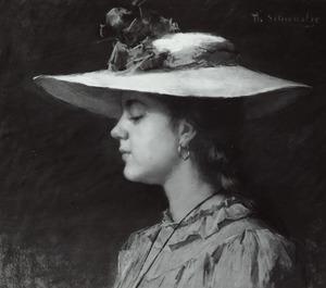 Portret van mogelijk Anna Susanna Hermina van Panhuys (1901- )