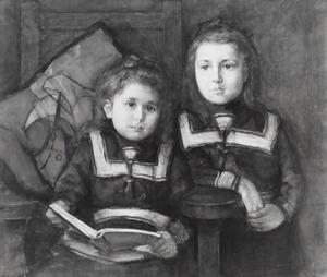 Portret van de dochters van Jan Coenraad Holtzappel (1868-1948)