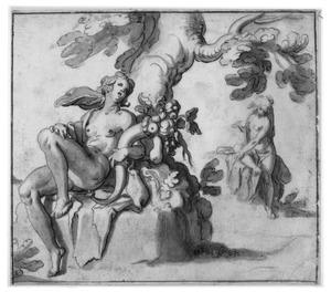 Abundantia (of Ceres) en nimf