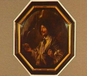 Portret van een onbekende man als de herder Daifilo