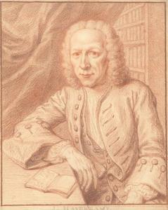 Portret van de schrijver en toneeldichter Johannes Haverkamp (1684-1754)