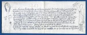Achterkantkant brief aan Willem den Ouden in Bretagne