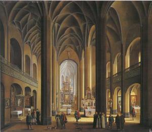 Interieur van de St Leonhard kerk in  Frankfurt am Main