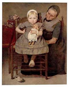 Baby en grootmoeder