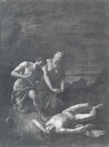 Adam en Eva bij het lijk van Abel