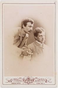 Portret van Francesco Jerace (1853-1939) en waarschijnlijk Otto Johan Willem Carel van Bylandt (1852-1929)