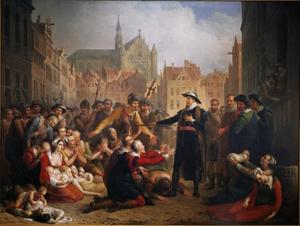 De zelfopoffering van burgemeester Pieter van der Werf, 1574