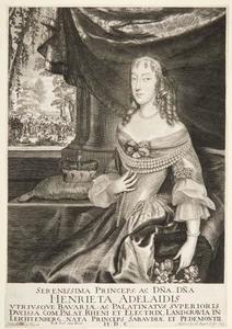 Portret van Henriette Adelaide von Savoyen (1636-1676), Keurvorstin van Beieren