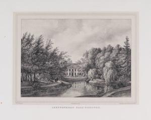 Parklandschap met gezicht op de hofstede Leeuwenhorst