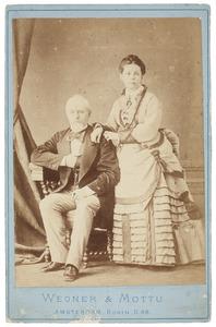 Portret van Bonifacius Antonius de Quay (1822-1879) en Maria Louiza Rademaker (1830-...)
