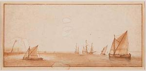 Zeilschepen in rustig vaarwater