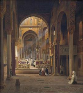Interieur van de Cappella Palatina te Palermo