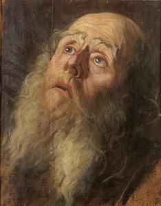 Studiekop van een oude man met baard