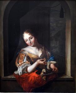 Jonge vrouw met een citroen