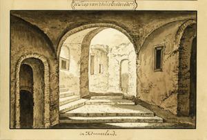 Interieur van de ruïne van kasteel Brederode