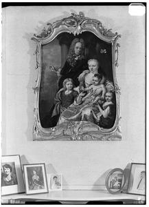 Portret van de familie van Onno Sickinghe (1688-1756) en Johanna Willemina Tamminga (1687-1729)