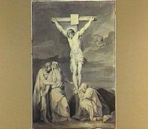 De kruisiging met Maria, Maria Magdalena en de apostel Johannes  (Johannes 19:25-26)