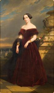 Portret van Isabelle Antoinette Barones Sloet van Toutenburg (1823-1872)