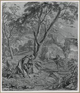 Maria verschijnt aan een monnik