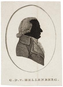 Portret van Godefriedus Domenicus van Hellenberg (1760-1817)