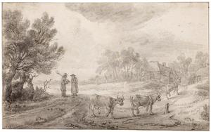 Landschap met terugkeer van de kudde