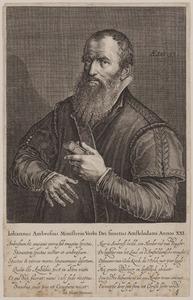 Portret van Johannes Ambrosius (1546-1599)
