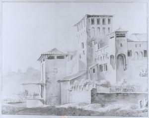 Zuidelijk fort met een ophaalbrug
