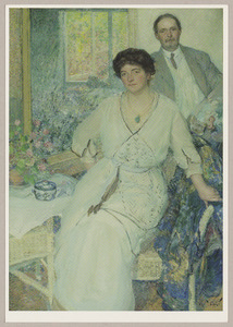 Dubbelportret van Anna Spencer Singer Brugh (1873-1962) en William Henry Singer (1868-1943)