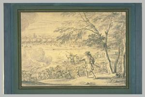 Het leger van Lodewijk XIV trekt de Rijn over, 12 juni 1672
