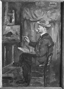 Portret van Anton Mauve (1838-1888) in zijn atelier