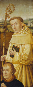De H. Bernardus met een stichter