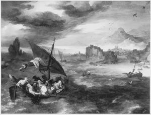 Christus en de apostelen op het meer van Galilea