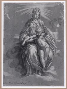 Maria in de wolken met kind