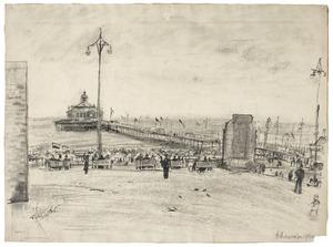 Gezicht op de pier in Scheveningen