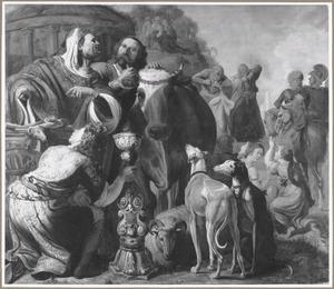 Paulus en Barnabas te Lystra als Mercurius en Jupiter aanbeden, nadat ze een kreupele genezen hebben (Handelingen 14:11-18)