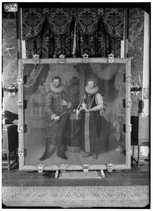 Dubbelportret van Adriaan van Reede (1475-1541) en  Lucia van Goor (....-....)