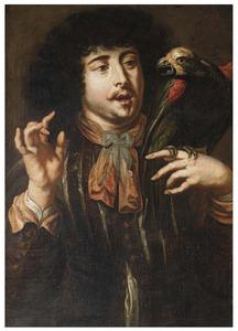 Man met papegaai op de hand (het Gevoel)