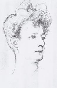 Portret van Theodora Antonia Louisa Cornelia Bouwmeester (1850-1939)