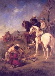 Valkenjacht in Algerije: de curée