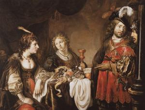 Jacob belooft Laban zeven jaar voor niets te werken als hij Rachel als vrouw krijgt  (Genesis 29:16-19)
