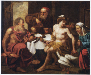 Jupiter en Mercurius te gast bij Philemon en Baucis