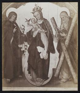 Maria met kind op de maansikkel