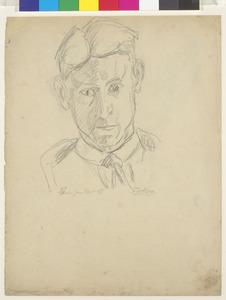 Zelfportret Fiedler met stropdas