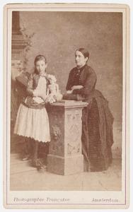 Dubbelportret van E.D. Rutgers van der Loeff en haar dochter Johanna Maria Kalff