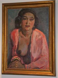 Portret van een donkere vrouw